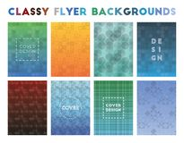 Classy Flyer Backgrounds. Adorable geometric patterns. Original background. Vector illustration stock illustration