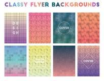 Classy Flyer Backgrounds. Alive geometric patterns. Remarkable background. Vector illustration stock illustration