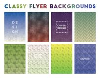 Classy Flyer Backgrounds. Alluring geometric patterns. Graceful background. Vector illustration vector illustration