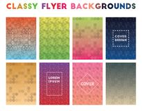 Classy Flyer Backgrounds. Alluring geometric patterns. Incredible background. Vector illustration royalty free illustration