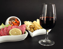 Classy glass of red wine Royalty Free Stock Photography
