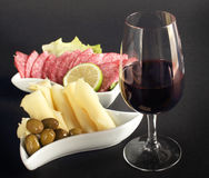 Classy glass of red wine Royalty Free Stock Images