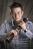Classy guy with musket Stock Image