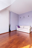 Classy house - living room. Classy house - White and purple living room interior Royalty Free Stock Image