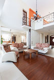 Classy house - living room interior Royalty Free Stock Photos