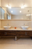 Classy house - sink. Classy house - two sinks in contemporary bathroom stock images