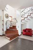 Classy house - stairs Stock Photography