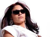 Classy Latina. Beautiful classy Latina Woman wearing sunglasses Stock Image