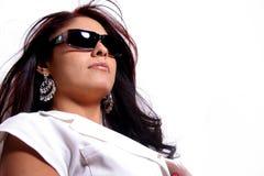 Classy Latina. Beautiful classy Latina Woman wearing sunglasses Stock Photography