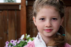 Classy little girl Royalty Free Stock Image
