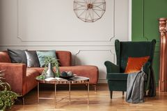 Classy living room interior. With fashionable modern design royalty free stock photo