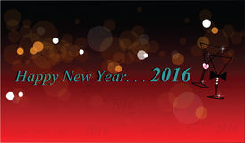 Classy new year greetings Royalty Free Stock Photos