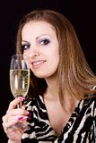 Classy Party Girl Royalty Free Stock Photos