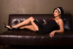 Classy Pin-up girl. royalty free stock photo