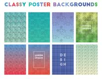 Classy Poster Backgrounds. Alive geometric patterns. Incredible background. Vector illustration vector illustration