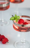 Classy Raspberry Cordial Stock Photography