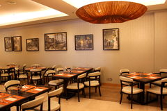 Classy restaurant Stock Image
