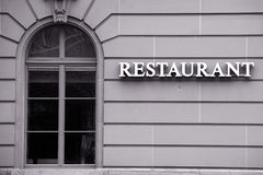 Classy Restaurant Window Stock Photos
