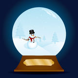 Classy Snowman Snow Globe Royalty Free Stock Images