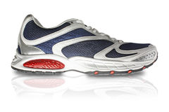Classy sports shoe in white and red Royalty Free Stock Image
