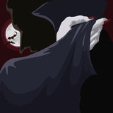 Classy Vampire at Full Moon Night, Vector Illustration Royalty Free Stock Photo