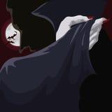 Classy Vampire at Full Moon Night, Vector Illustration royalty free stock photo