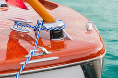 Classic wooden boat Stock Photos