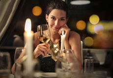 Classy woman Stock Images