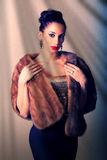 Classy woman in evening outfit Stock Images