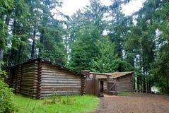 clatsop多雨日的堡垒 库存照片