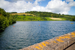 Clatworthy Reservoir in Somerset. Clatworthy Reservoir in the Brendon Hills in Somerset.  Located on the edge of the Exmoor National park Stock Images