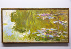 Claude Monet  - at Albertina museum in Vienna. Oscar-Claude Monet 14 November 1840 – 5 December 1926 was a founder of French Impressionist painting, and the Royalty Free Stock Photo
