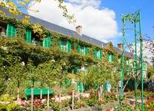 Claude Monet-Garten und -haus nahe Paris lizenzfreies stockbild