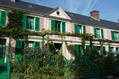 Claude Monet House. Photo of claude monets home in france.  Claude Monet was a french impressionist painter Royalty Free Stock Images