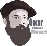 Claude Monet Pintor francês impressionista famoso ilustração stock