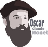 Claude Monet Pintor francês impressionista famoso Fotografia de Stock Royalty Free