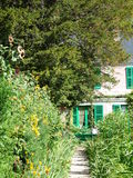 Claude Monet's garden. In Giverny. Located 80 km West from Paris France in the village of Giverny. Claude Monet was a founder of French impressionist painting Royalty Free Stock Images