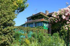 Claude Monet`s house. House and garden of Claude Monet`s  in Giverny, France Royalty Free Stock Images