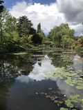 Claude Monet & x27; s tuin in Giverny Royalty-vrije Stock Foto