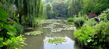 Claude Monet trädgårdar i Giverny, Frankrike Arkivfoto