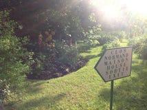Claude Monets trädgård Arkivbilder