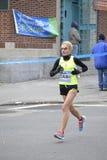 Claudia Gelsomino Elite Runner NYC maraton Royaltyfria Bilder