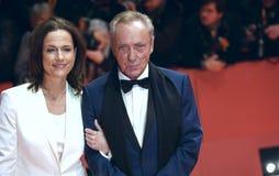 Claudia Michelsen och Udo Kier royaltyfri bild
