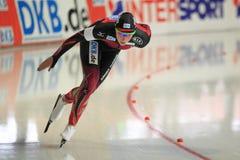 Claudia Pechstein - åka skridskor för hastighet Arkivbild
