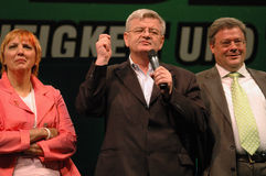 Claudia Roth, Joschka Fischer, Reinhard Buetikofer Royalty Free Stock Photo