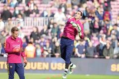 Claudio Bravo of FC Barcelona Royalty Free Stock Image