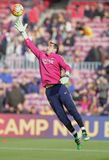 Claudio Bravo of FC Barcelona Royalty Free Stock Photography