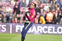 Claudio Bravo of FC Barcelona Royalty Free Stock Photo