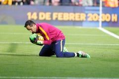 Claudio Bravo of FC Barcelona Stock Photo
