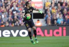 Claudio Bravo of FC Barcelona Royalty Free Stock Images